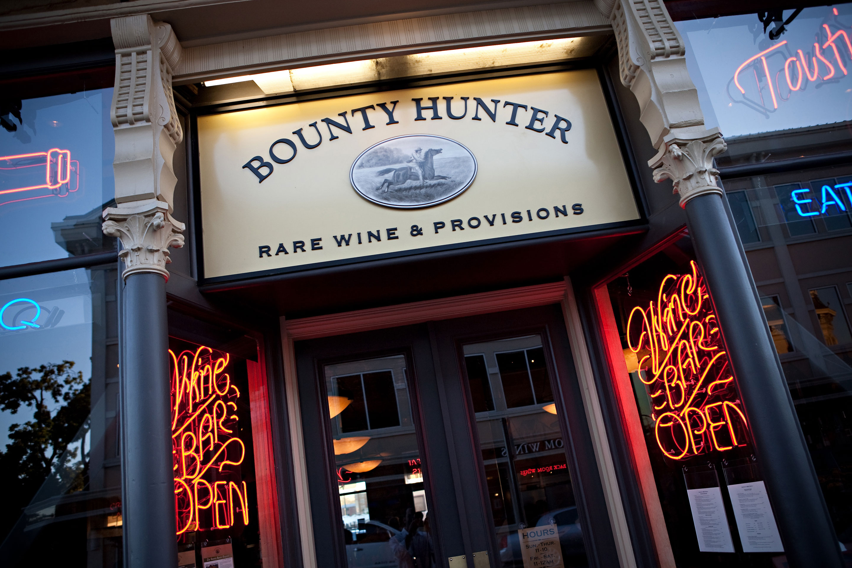Bounty Hunter Wine Bar & Smokin' BBQ Entrance